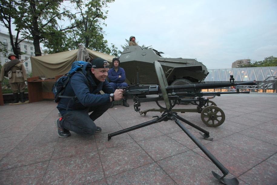 Старый пулемет участников фестиваля Времена и эпохи