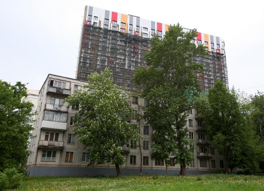 Пятиэтажный и многоэтажный дома