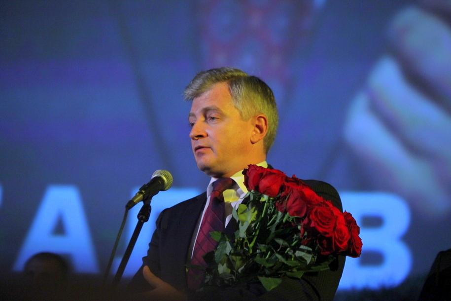 Александр Кибовский на церемонии прощания с Алексеем Баталовым