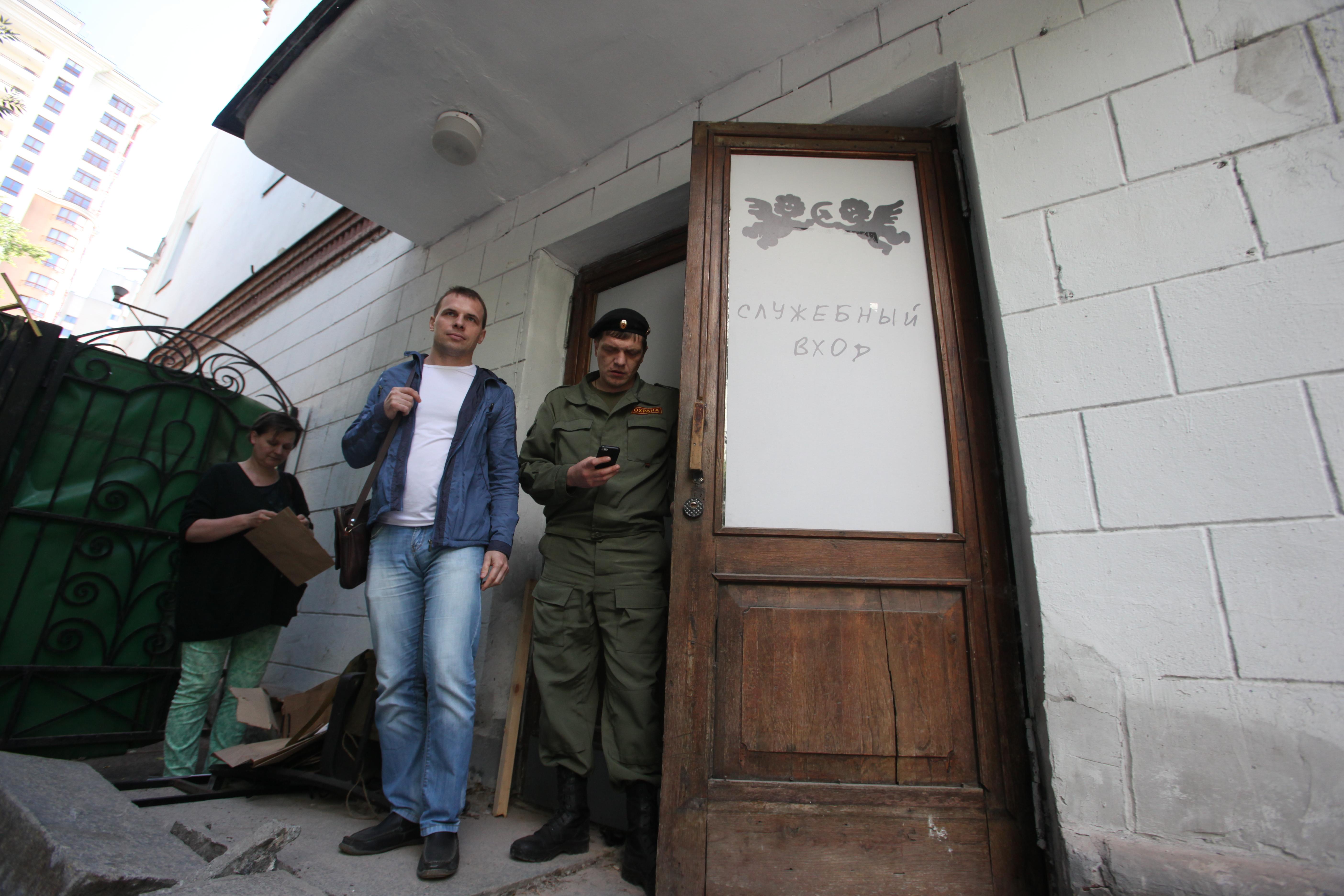 Служебный вход в Дом культуры имени Серафимовича