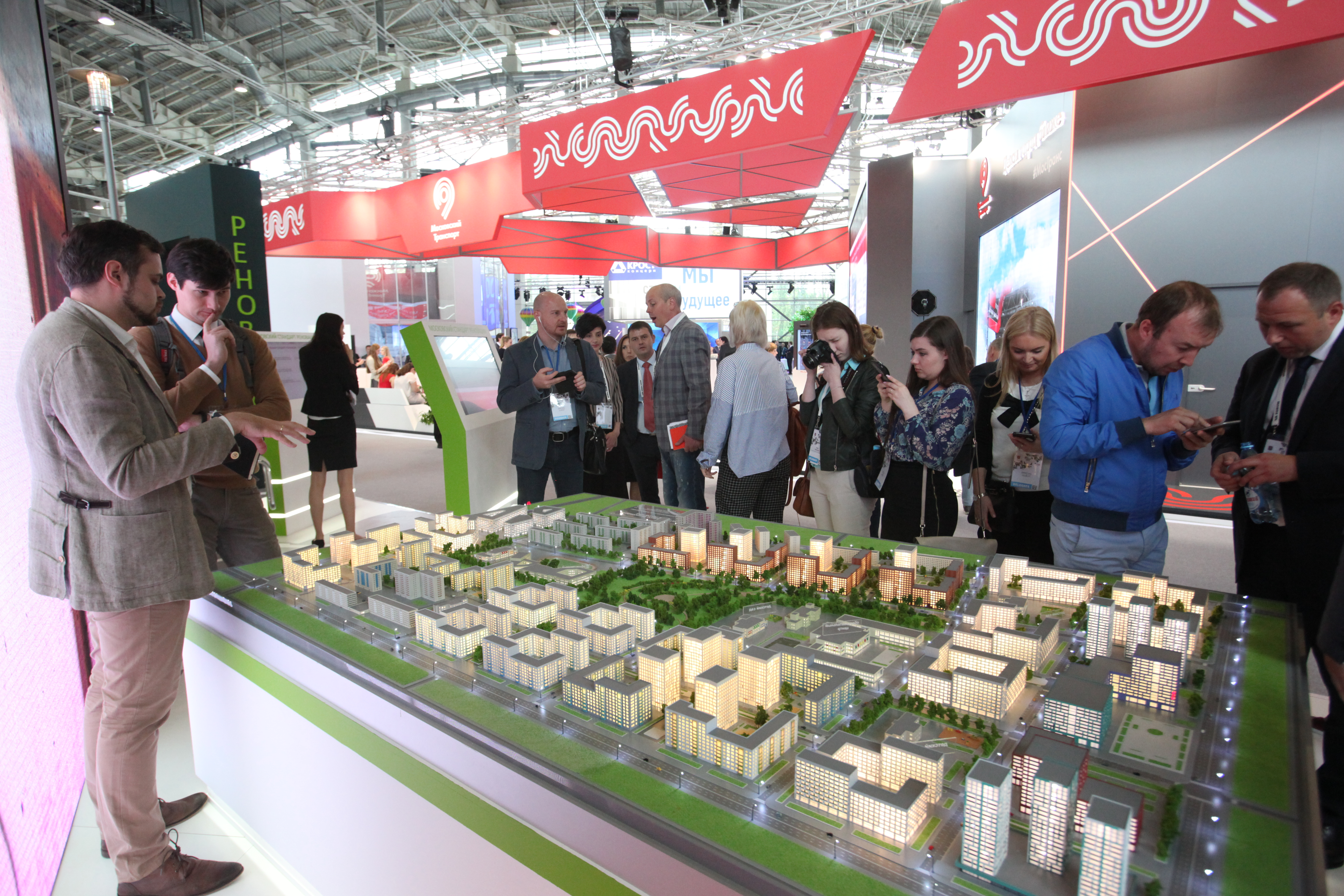 Макет нового жилого квартала на Московском урбанистическом форуме