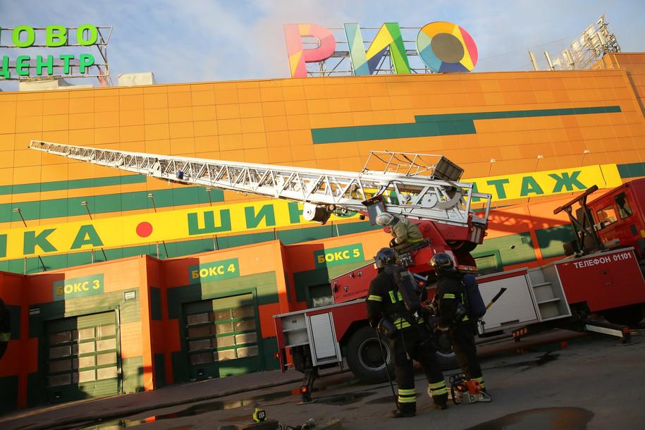 Пожарные ликвидировали крупное возгорание в ТЦ «РИО»