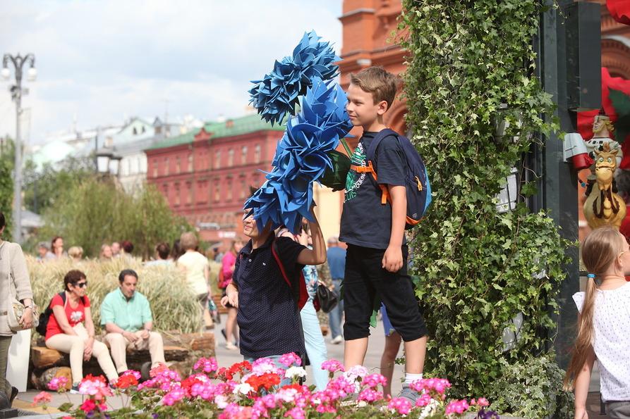 Мальчик на фестивале Московское лето