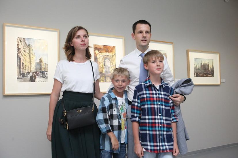 Главный архитектор Москвы открыл свою выставку