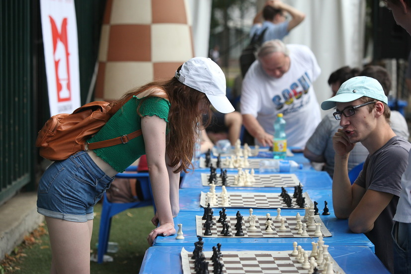 Турнир по шахматам на фестивале Moscow City Games в Лужниках