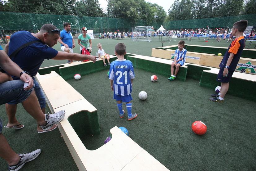 Детский мини-футбол на фестивале Moscow City Games в Лужниках