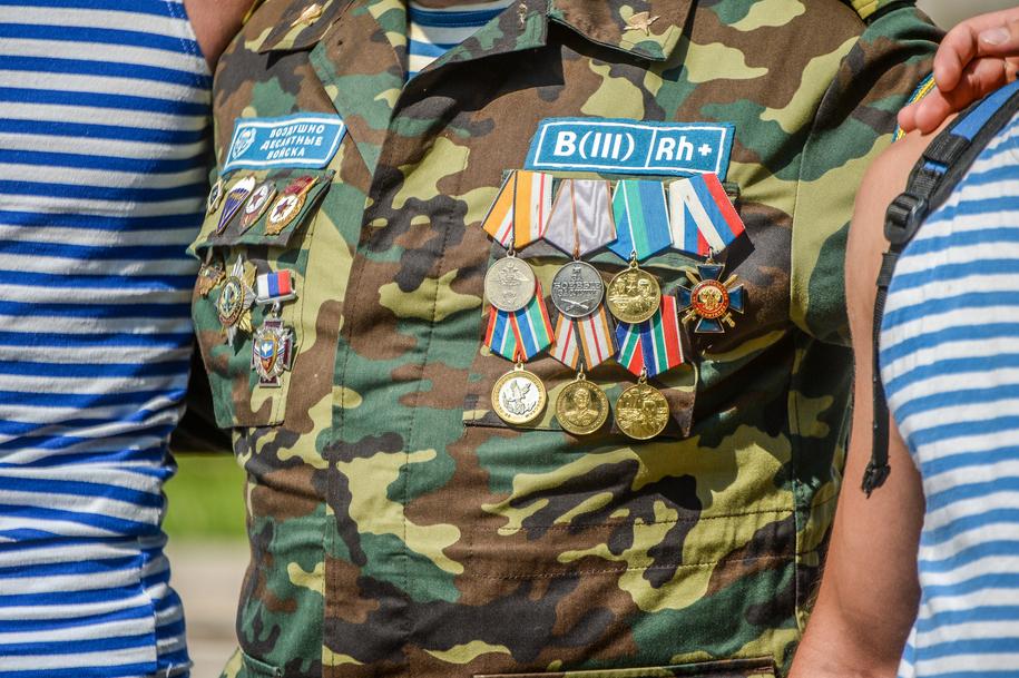 Награды на груди десантника
