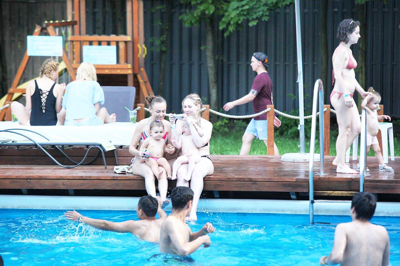 Открытый бассейн в Филевском парке