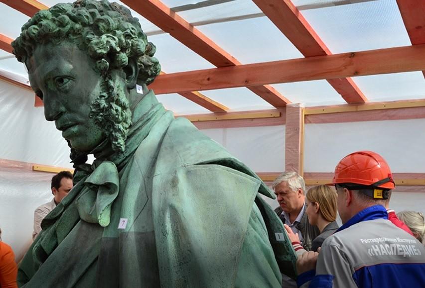 Памятник Пушкину откроют к Дню города