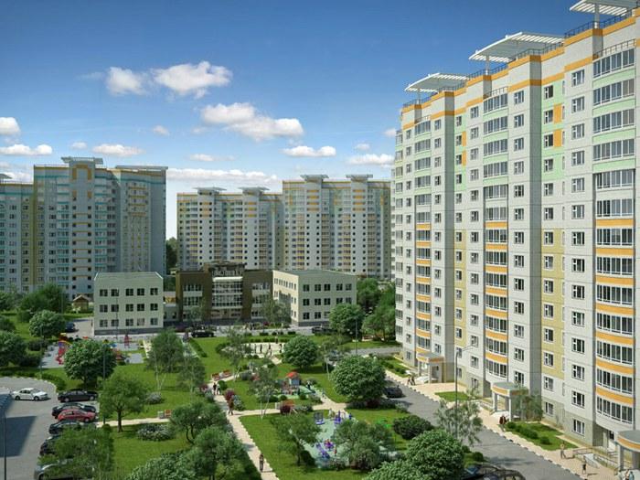 Вид на новый жилой квартал