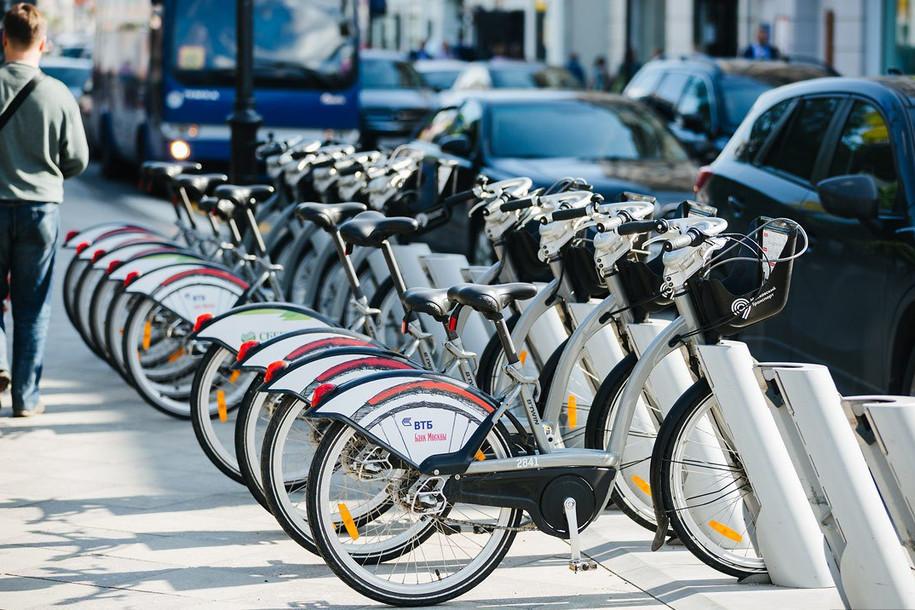 Москвичи совершили 500 тысяч поездок на велосипеде