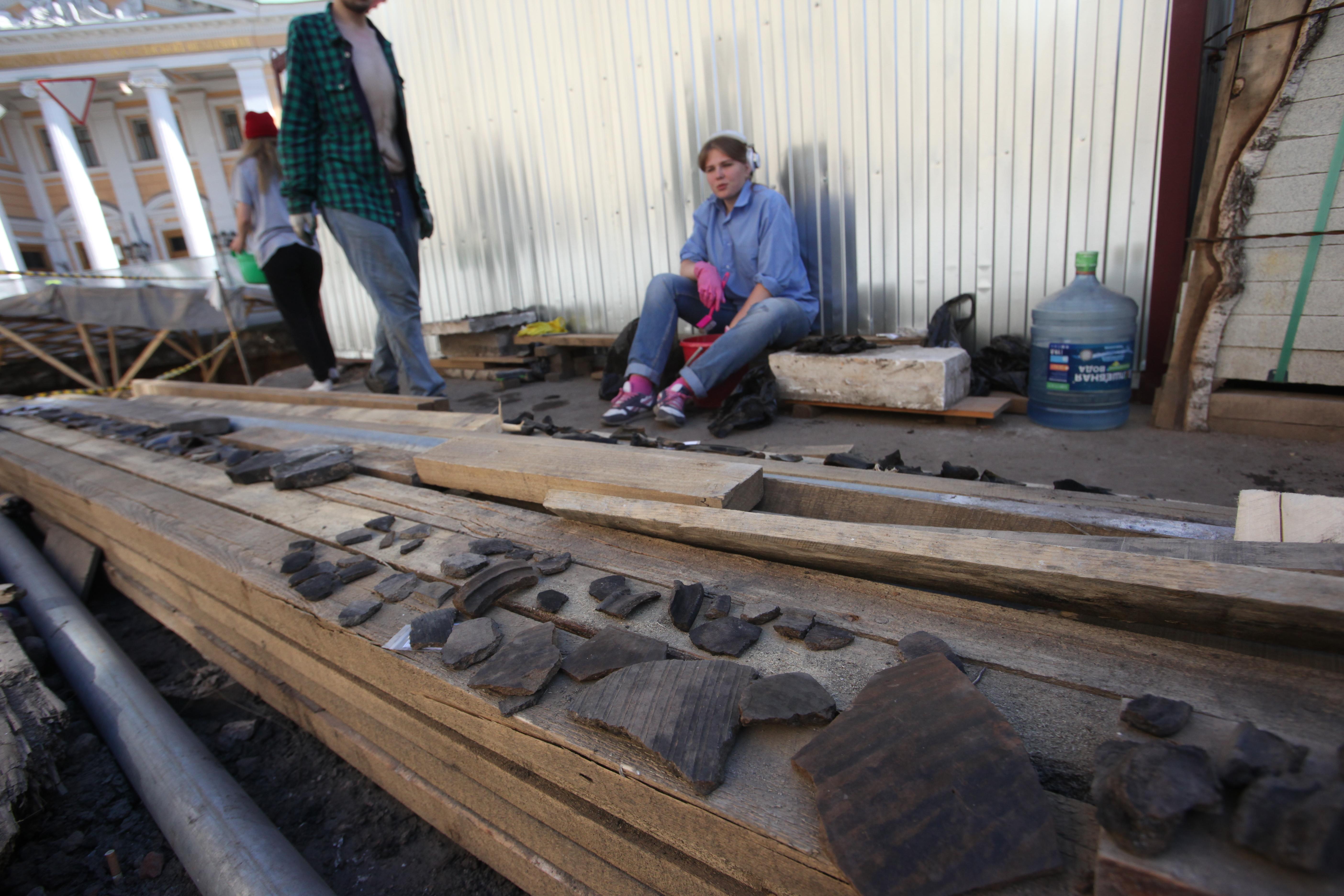 Находки археологов в парке зарядье