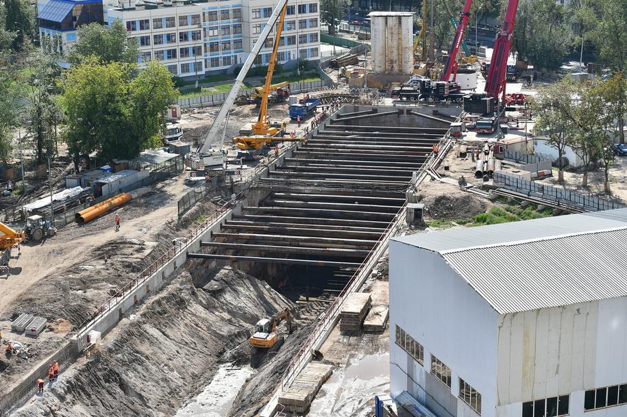Строительство перегонного тоннеля участка ТПК