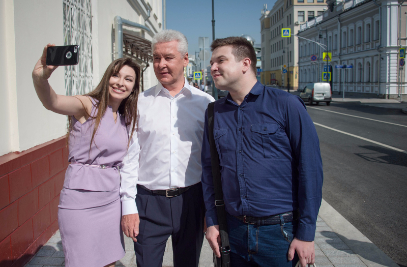 Селфи с мэром Собяниным на Сретенке