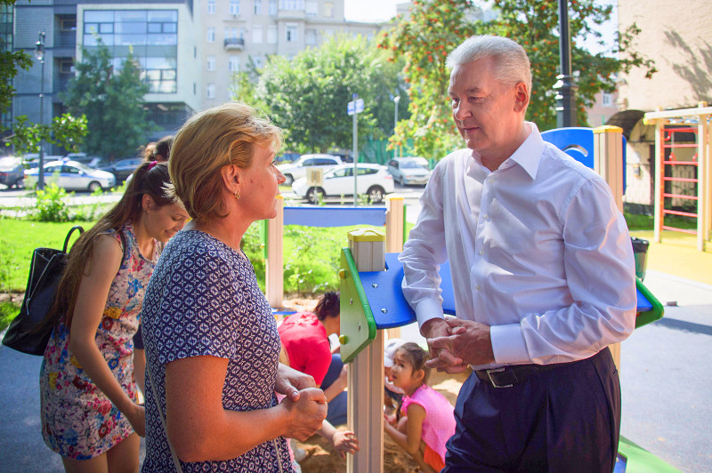 Мэр Москвы открыл Сретенку после реконструкции