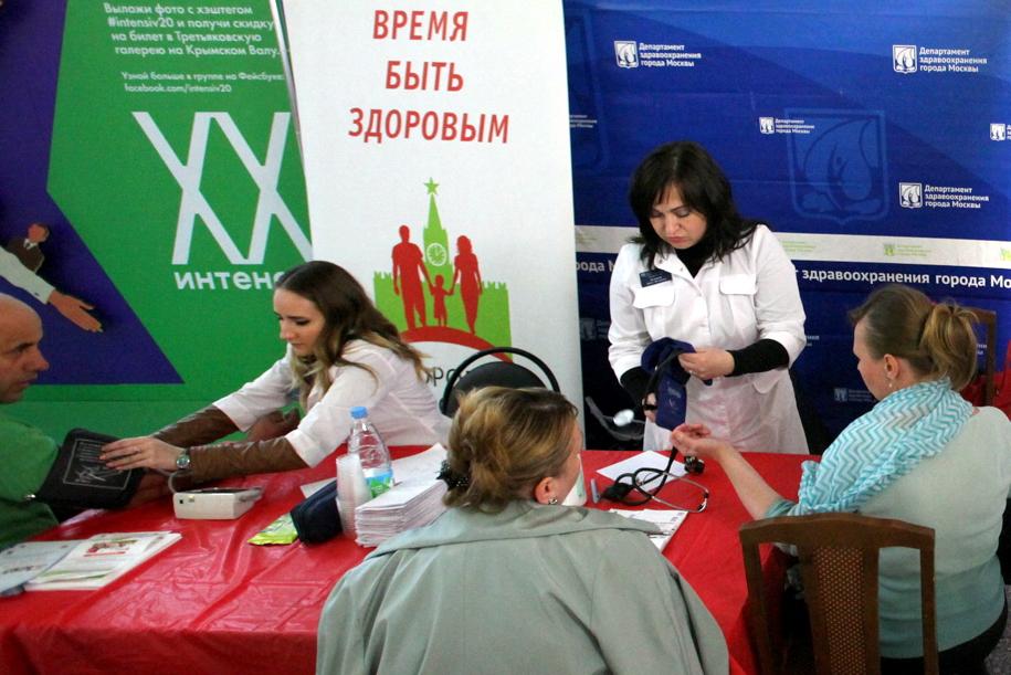 Собянин осмотрел павильон «Здоровая Москва» в ландшафтном парке «Митино»