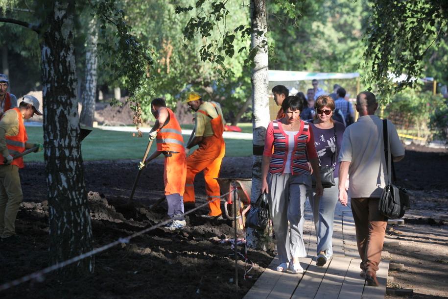 Парк в Строгинской пойме открыли после комплексного благоустройства