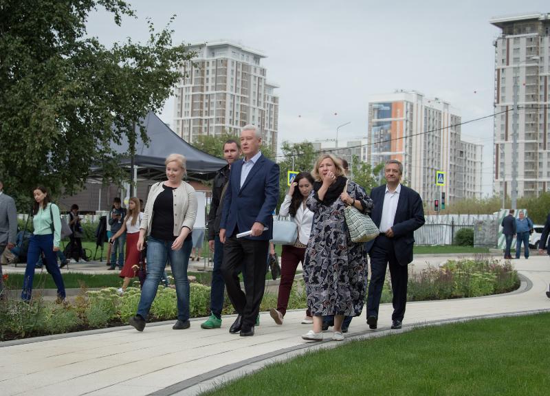 Сергей Собянин осмотрел благоустройство парка «Сад будущего»
