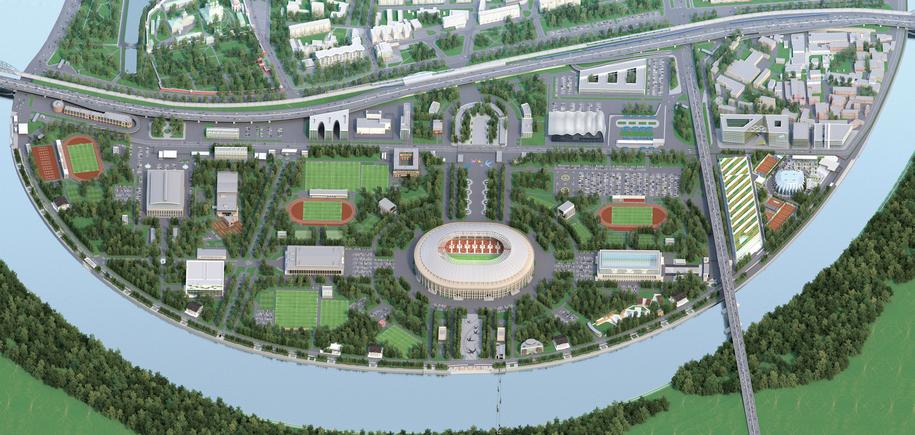 3 д проект территории спортивного комплекса Лужники