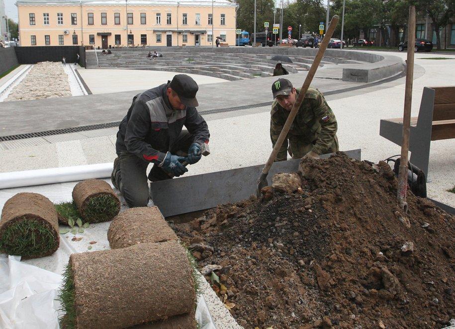 Благоустройство территории Хохловской площади