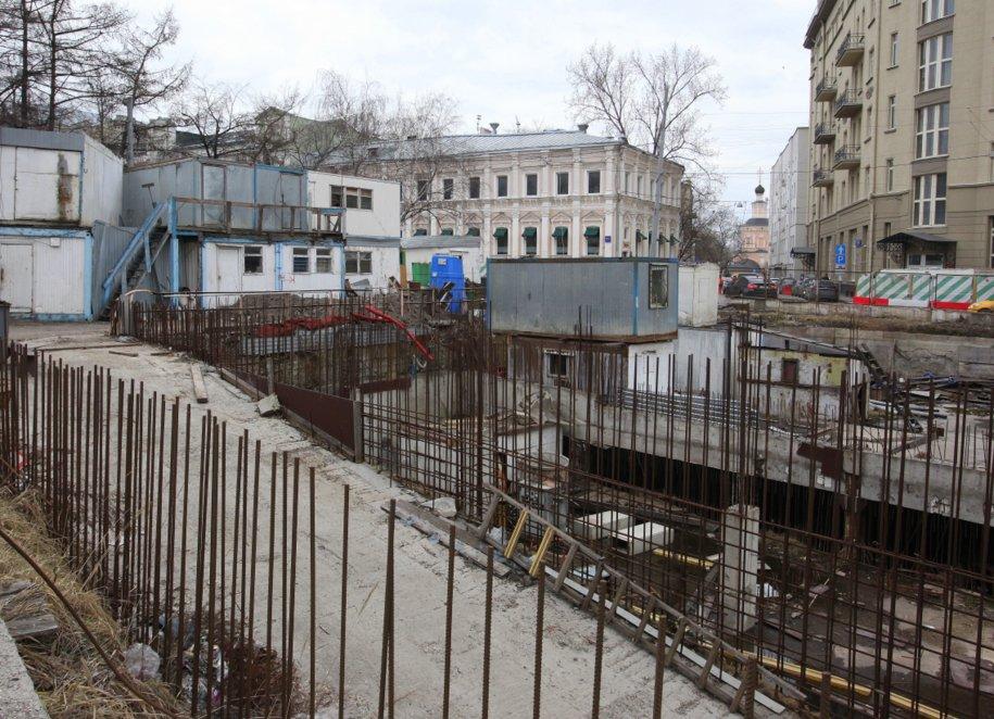 Стройка на Хохловской площади