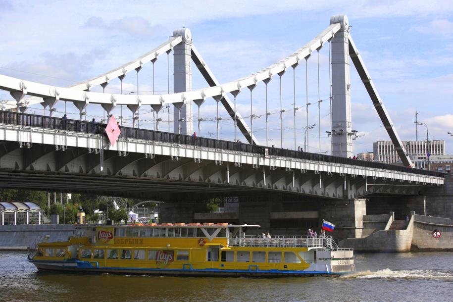 Крымский мост на Садовом кольце