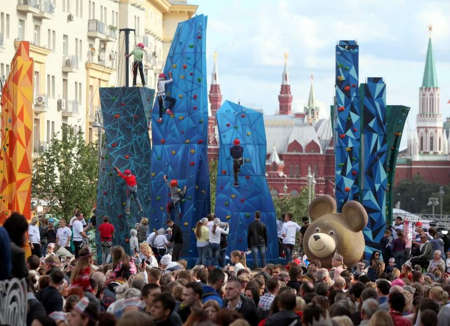 Скалодром на Тверской улице в День города