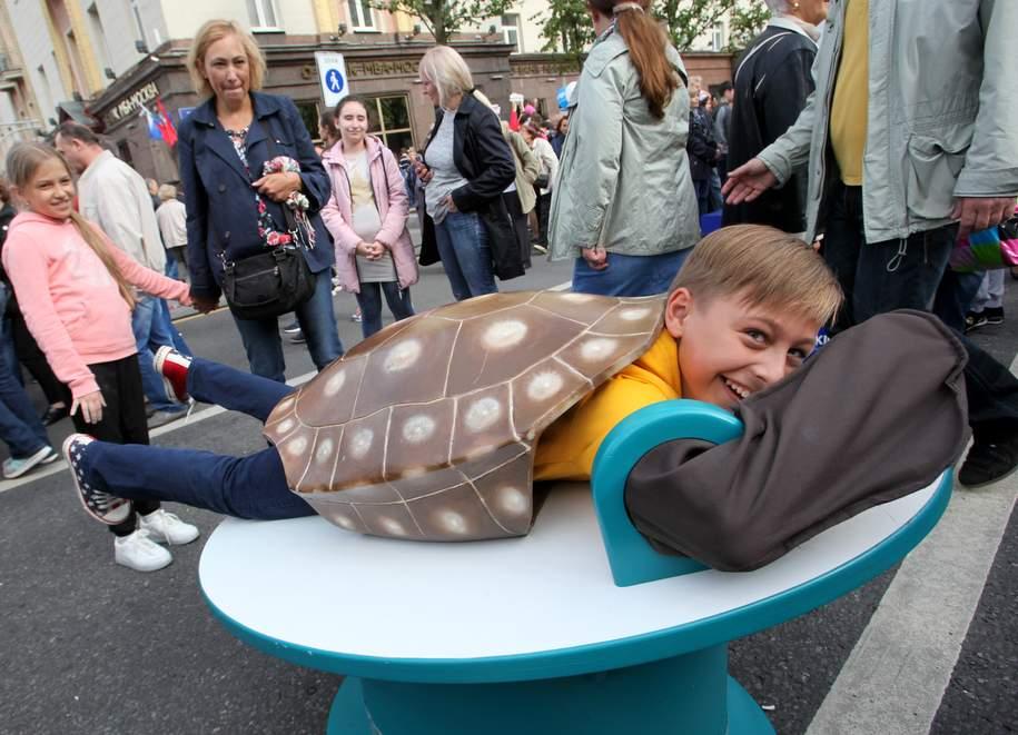 Черепашка-мальчик на Тверской улице в День города
