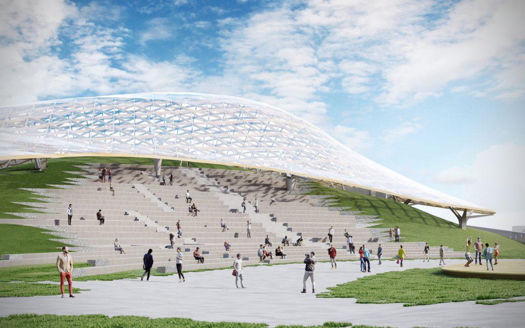 Вцентральной части Москвы открыли парк «Зарядье»