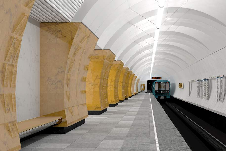 Две строящиеся станции метро начали отделывать