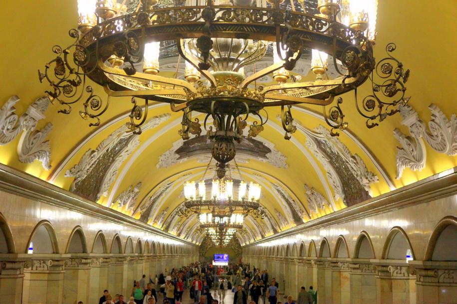 На «Комсомольской» появились мобильные кассиры