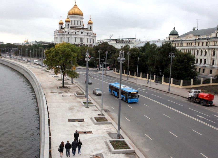 Пречистенскую набережную в столице перекроют для укладки асфальта