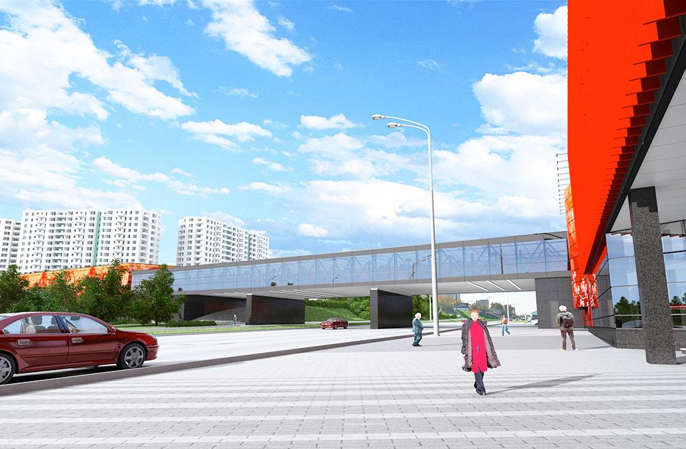 Станции «Мичуринский проспект» свяжет стеклянный переход
