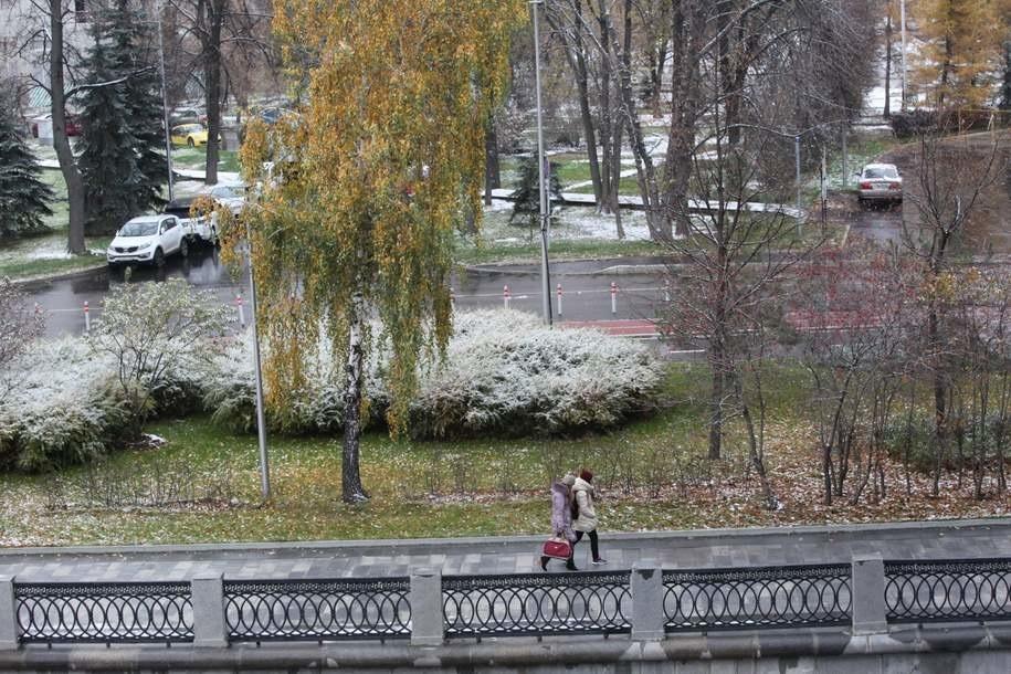 В столице ожидается мокрый снег с дождем