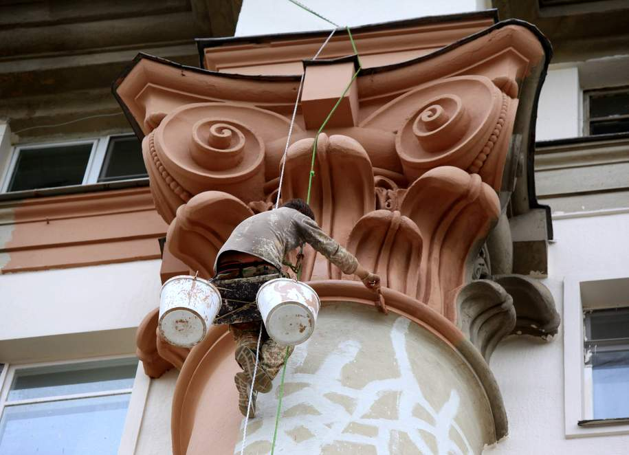 Царское украшение. Элемент ввиде льва вернули нафасад дома Быкова