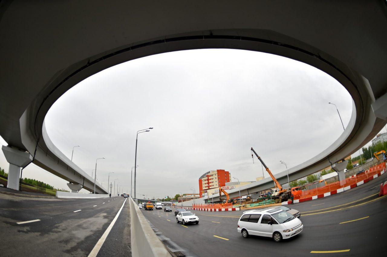 С Варшавского шоссе появился дополнительный съезд на Нагорный проезд