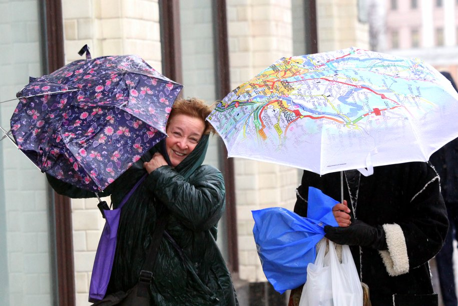 Сегодня в Москве ожидаются мокрый снег и влажность