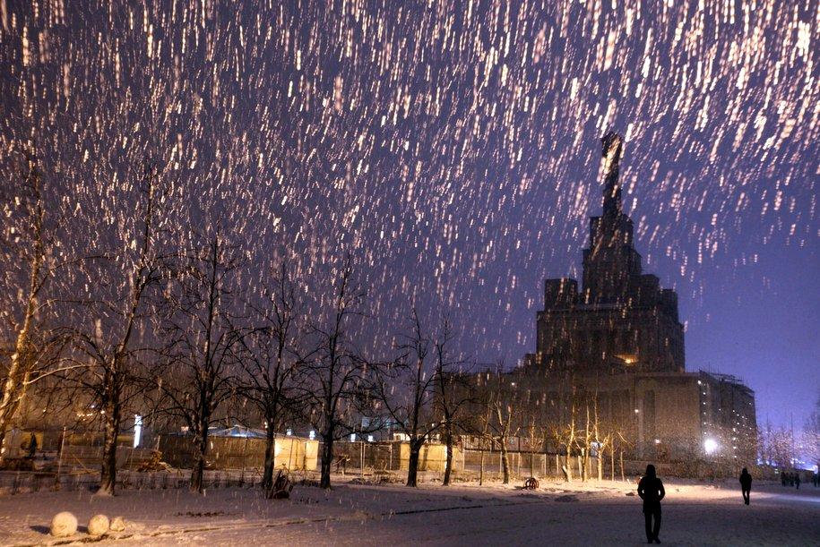 Снегопад придет в Москву во второй половине дня