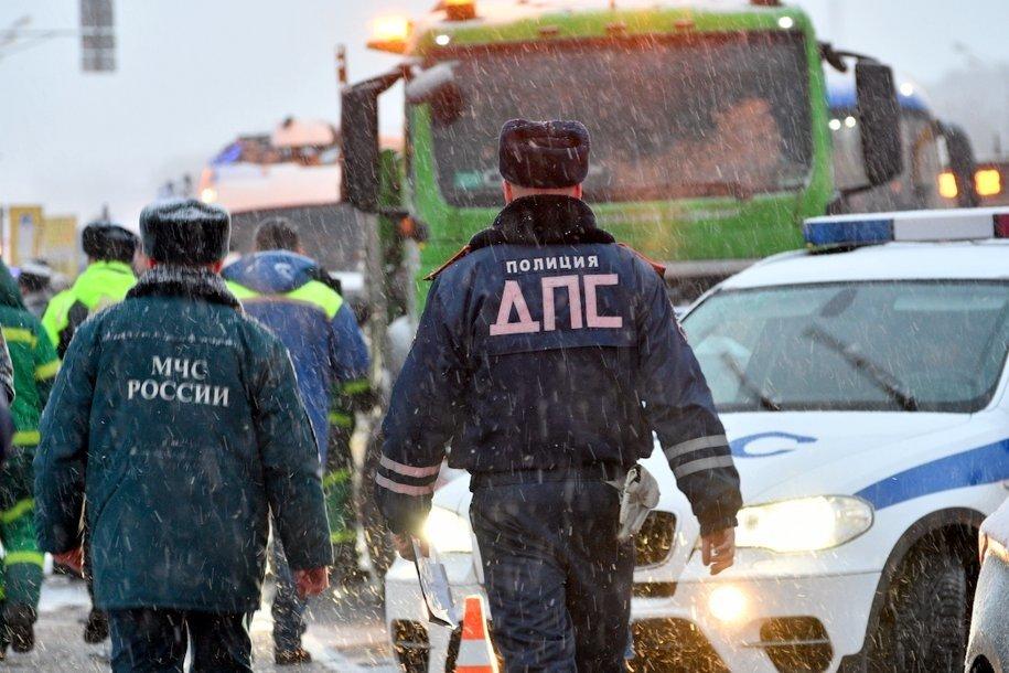 На юго-востоке Москвы произошло ДТП с маршруткой