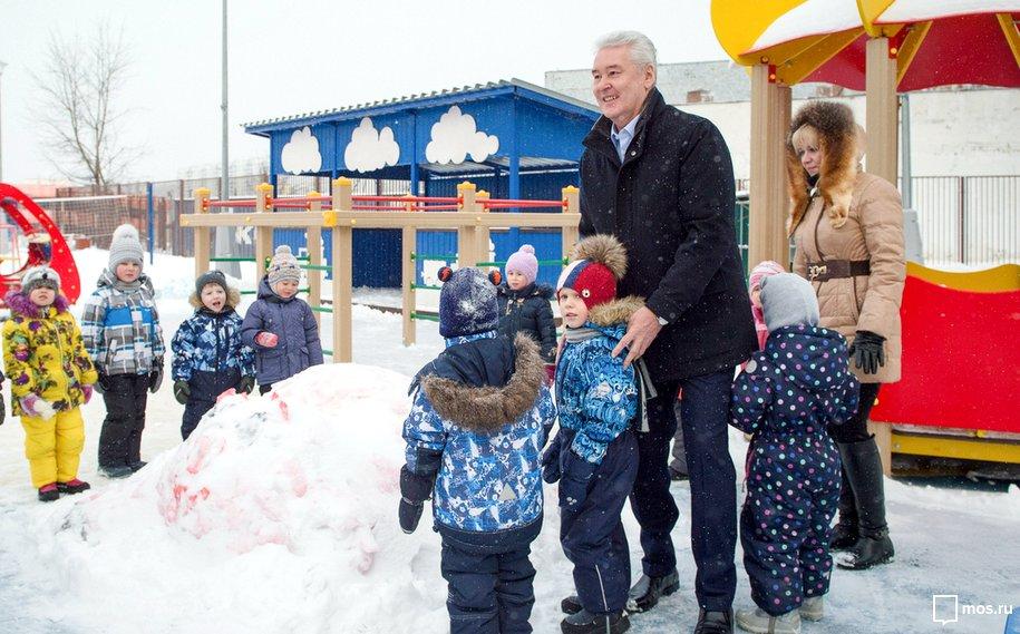 Собянин открыл новый детский парк вСолнцеве