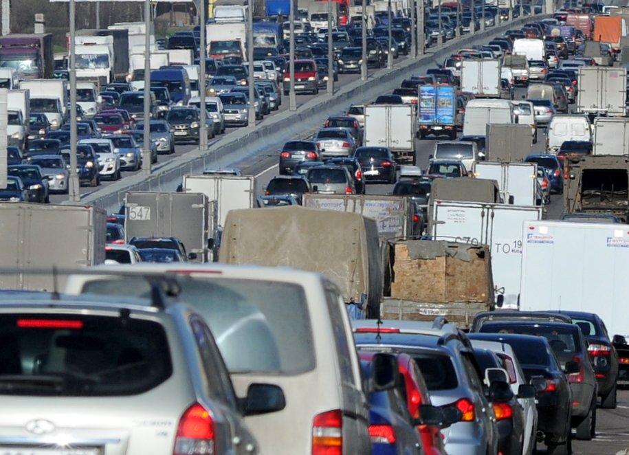 На Ленинградском шоссе образовалась пробка длиной 5 километров