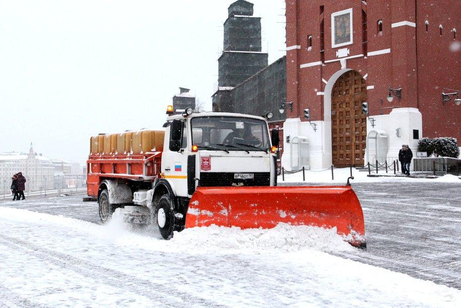 С улиц Москвы за сутки вывезли более 350 тысяч кубометров снега
