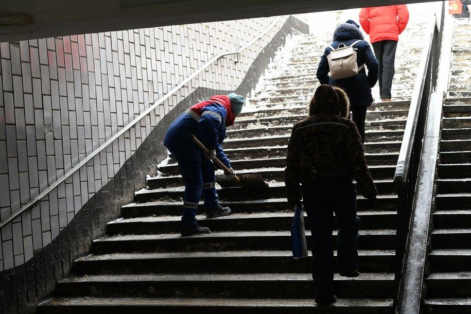 Ремонтные работы начались вподуличном переходе станции метро «Сокол»