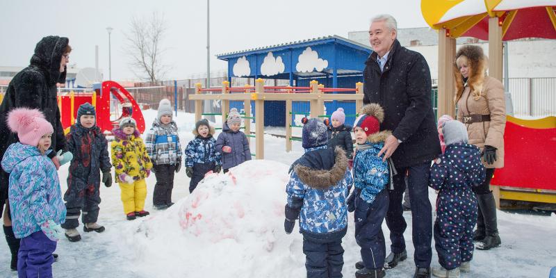 Сергей Собянин открыл детский садик в Солнцево