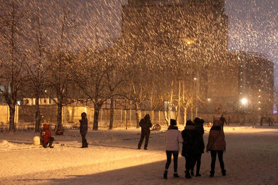Ночь на 13 января стала самой холодной с начала зимы