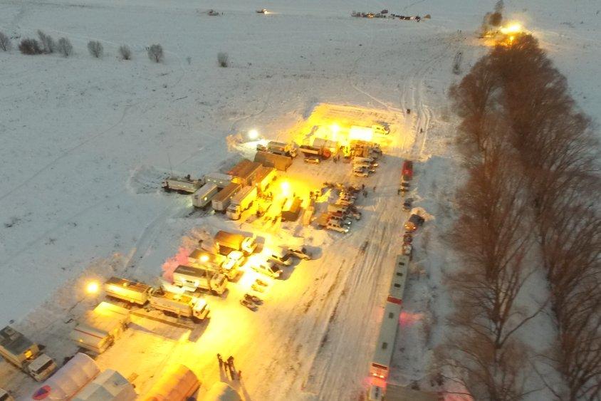 Вертолёт с фрагментами тел погибших в авиакатастрофе вылетел в Москву