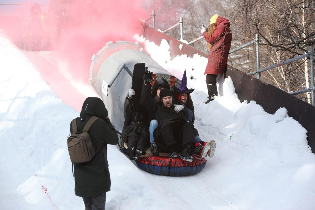 «Battle Сани»: в Сокольниках прошел фестиваль необычных саней