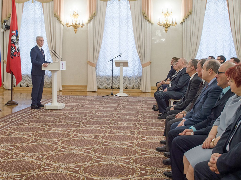 Мэр наградил работников транспортного комплекса Москвы