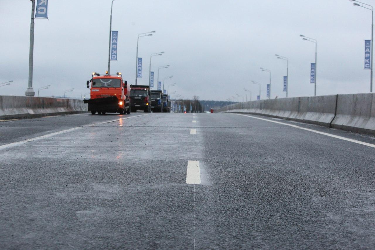 В Москве построили 124 км дорог за 2017 год