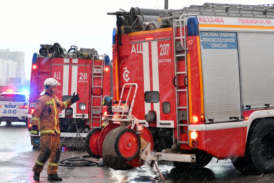 В центре Москвы горел особняк Боковых